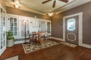 Open to the living room, this is a fourth area ideal for recreation.